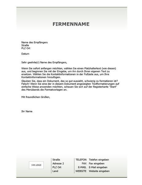 Briefpapier mit Firmenbriefkopf (Einfaches Design)
