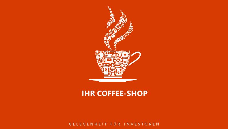 Geschäftsverkaufspräsentation im Café