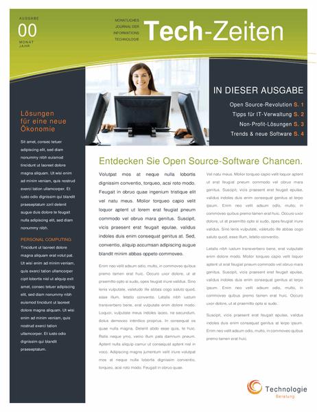 Newsletter für Technologieunternehmen (4 Seiten)
