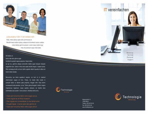 Broschüre für Technologieunternehmen (dreifach gefaltet)