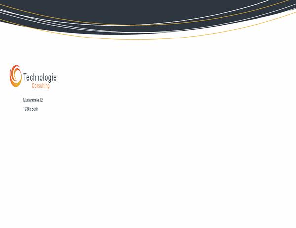 Umschlag für Technologiebranche