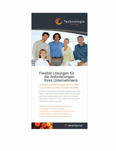 Flyer für Technologieunternehmen
