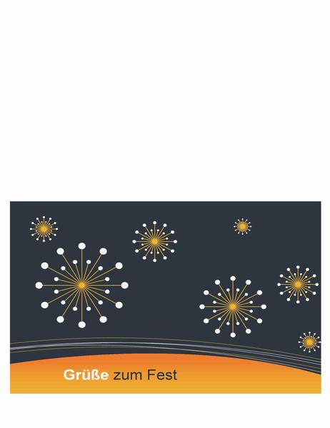 Feiertags-Grußkarte für Technologieunternehmen (mittig gefaltet)