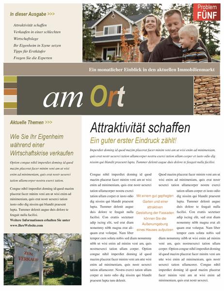 Newsletter für Immobilien (4 Seiten)
