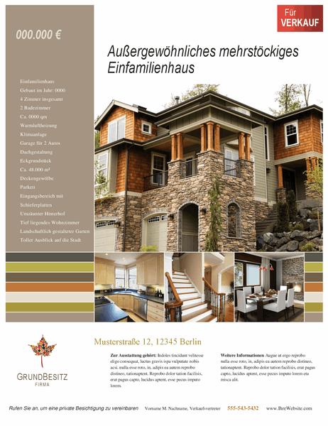 Flyer für Immobilien