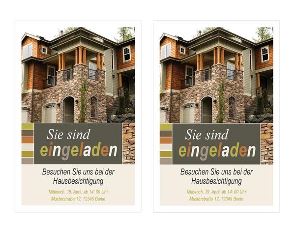 Einladung zur Hausbesichtigung (2 pro Seite)