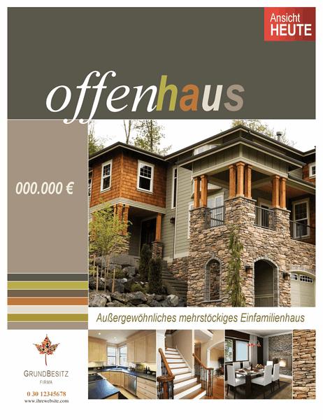 Poster für Immobilien (vertikal)
