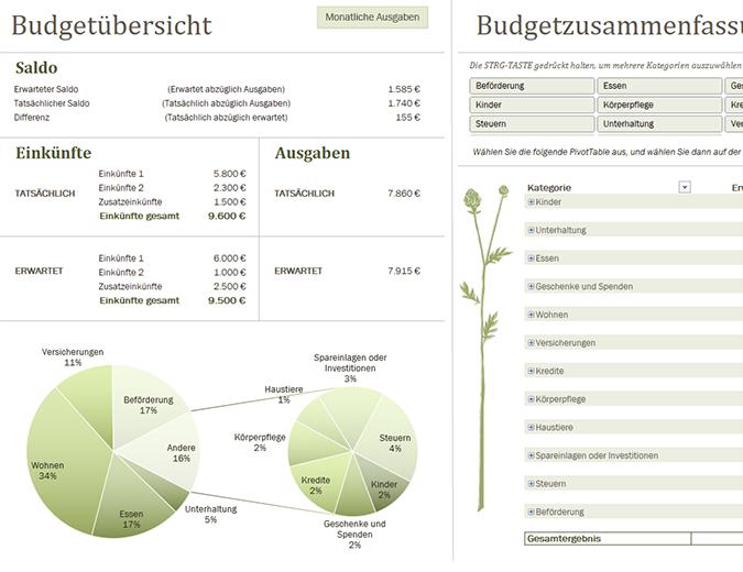 Familienbudget (monatlich)