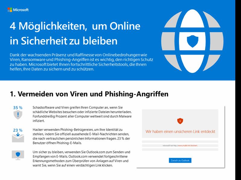 4 Möglichkeiten, um Online in Sicherheit zu bleiben