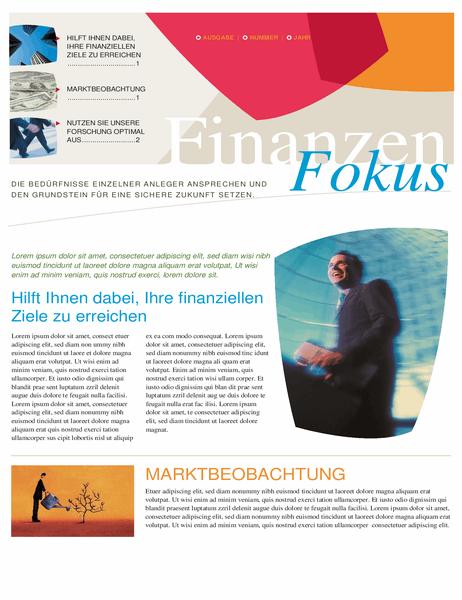 Newsletter für Finanzunternehmen (2 Seite)