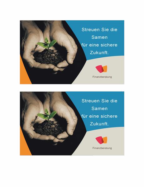 Postkarte für Finanzunternehmen (2 pro Seite)