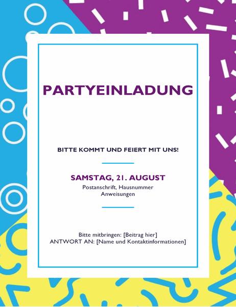 Festliche Party-Handzettel