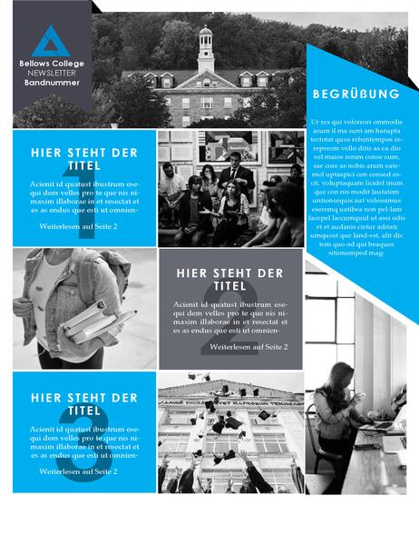 Newsletter für Hochschule/Universität
