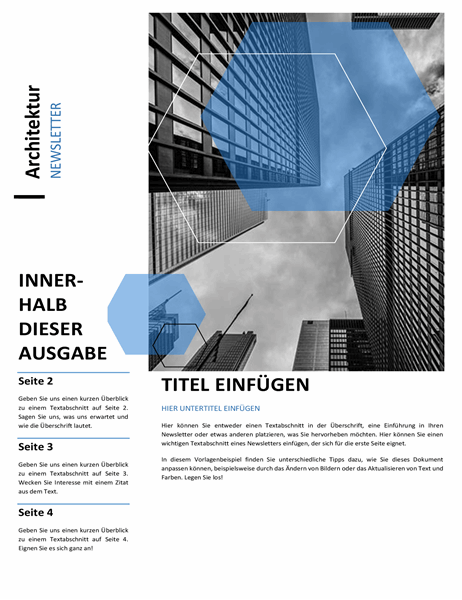 Architektur-Newsletter