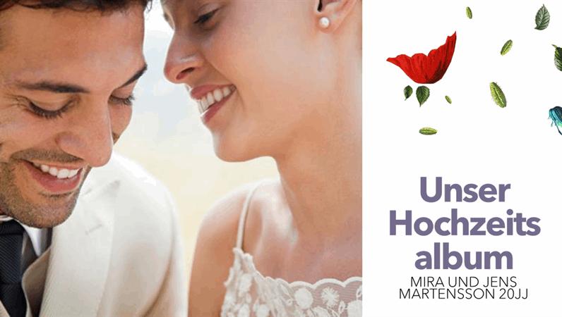 Florales Hochzeitsalbum
