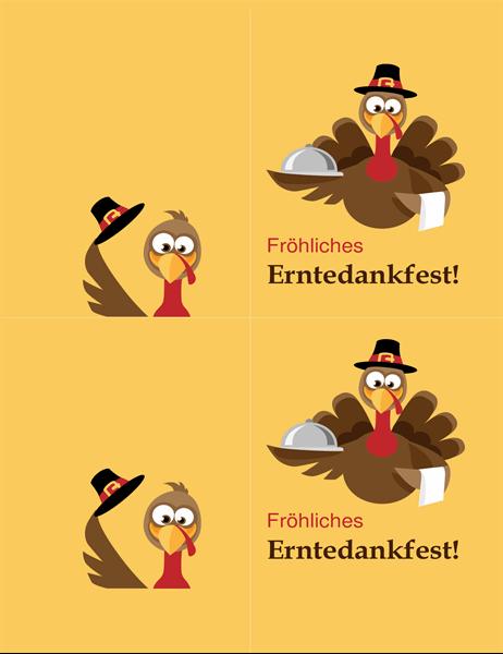 """Karte für Thanksgiving """"Fröhlicher Truthahn"""""""