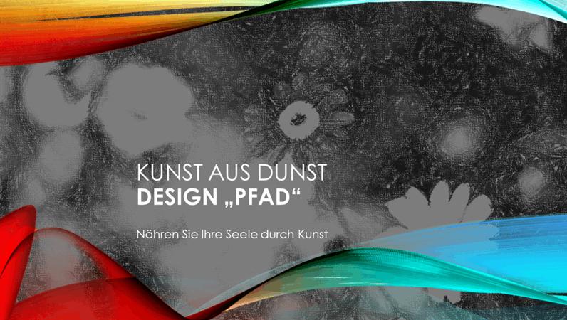 """Design """"Kondensstreifen"""" für Kunst"""