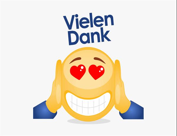 Emoji Danksagungskarte