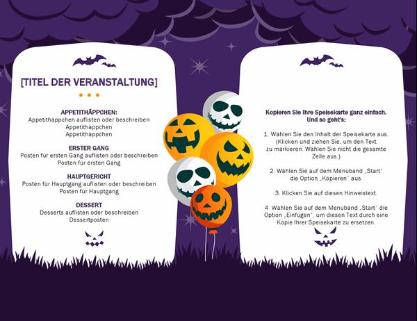 Gruselmenü zu Halloween