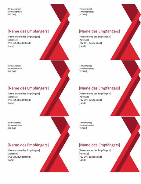 """Etiketten """"Winkel in Fettdruck"""" (6 pro Seite)"""