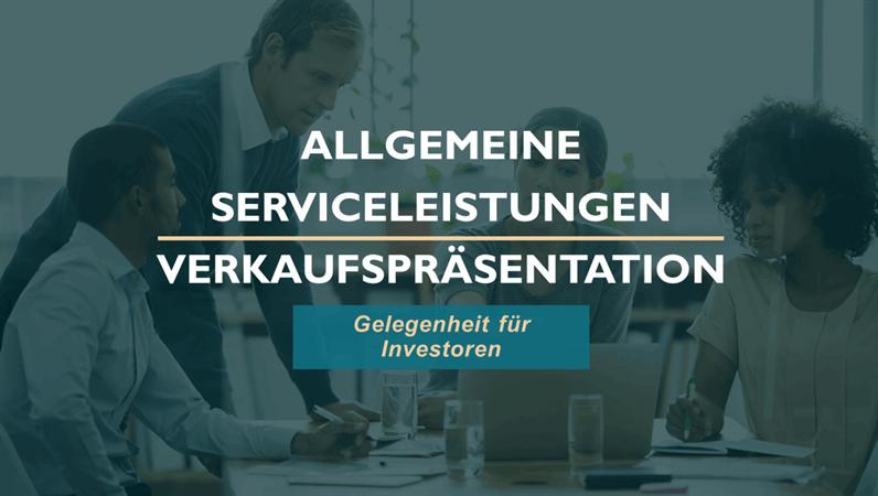 Verkaufspräsentation für professionelle Dienstleistungen