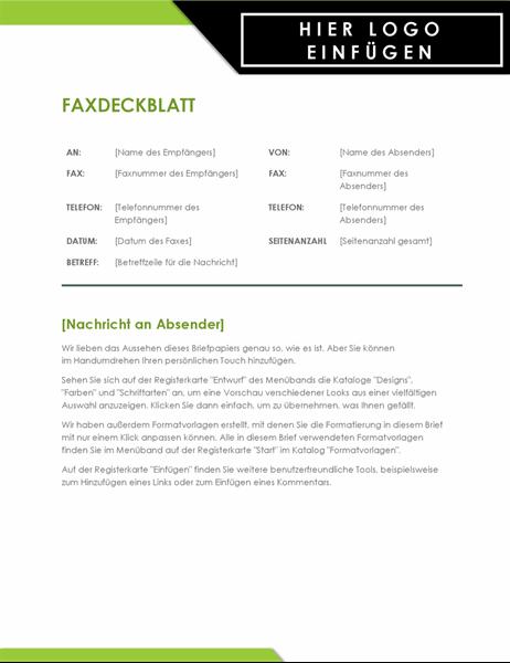 """Faxdeckblatt """"Logo fett"""""""
