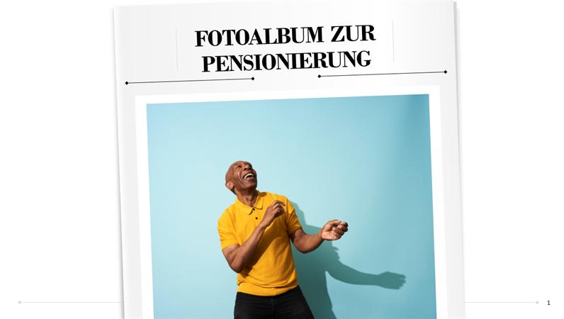 Fotoalbum zur Pensionierung