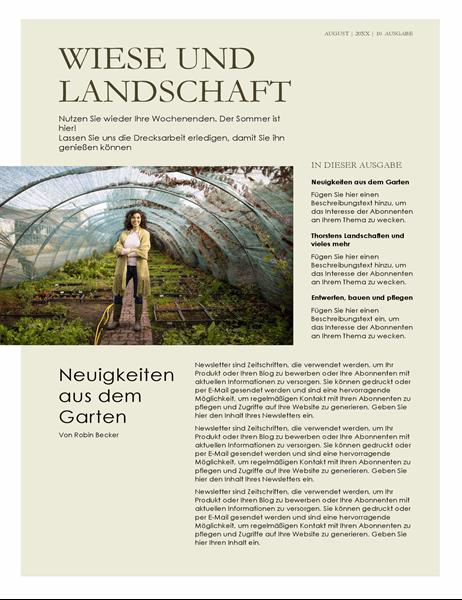 Landschaftsbau – Newsletter