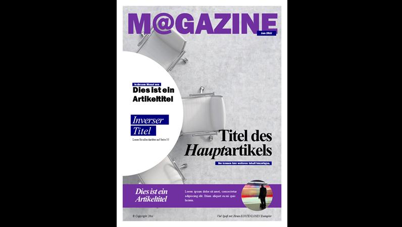 Einbände für Gesellschaftsmagazine