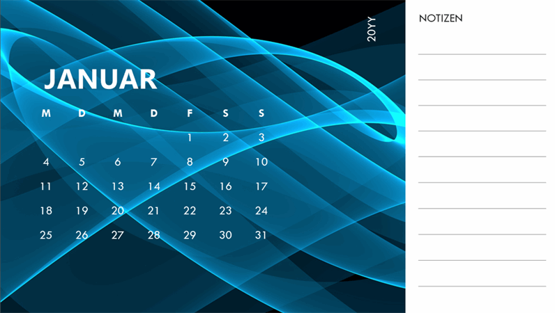 Abstrakter Fotokalender