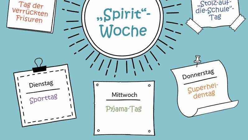 """Kalender für die """"Spirit Week"""""""