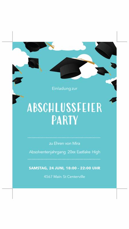 Einladungen zur Abschlussfeier