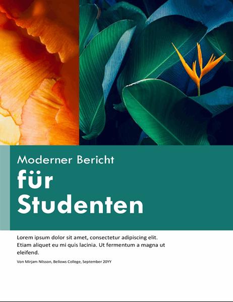 Farbenfroher Bericht für Schüler und Studierende