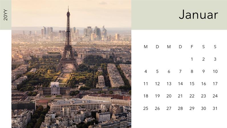 """Fotokalender """"Silhouette einer Stadt"""""""
