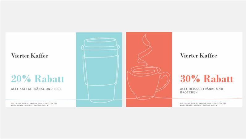 Kaffee-Coupons