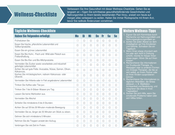 Wellness-Checkliste