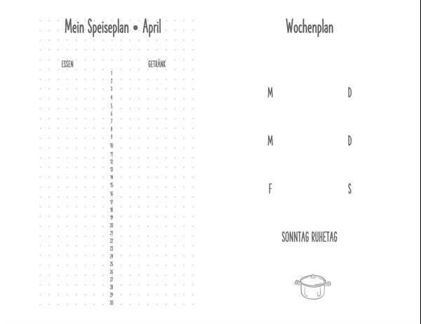 Mahlzeiten-Planungstagebuch