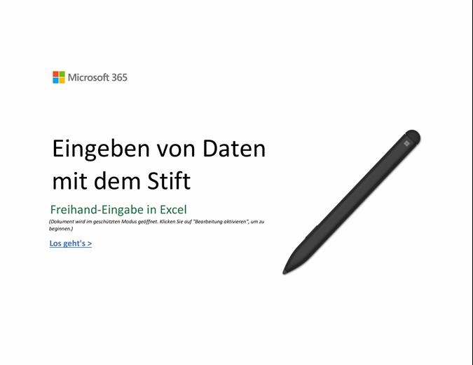 Willkommen bei Excel