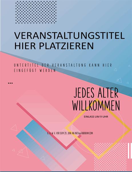 Flyer für Veranstaltung