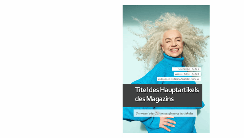 Layout für Lifestyle-Magazine