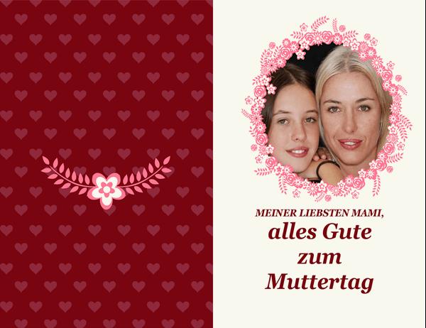 Muttertagskarte mit Blumenrahmen