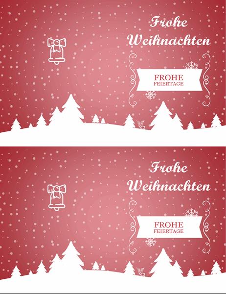 """Weihnachtskarte """"Schneelandschaft"""""""