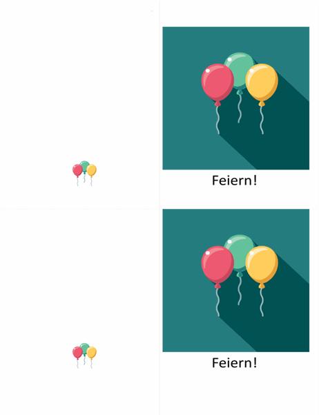 Glückwunschkarte mit Ballon