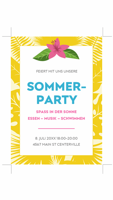 Sommereinladungen