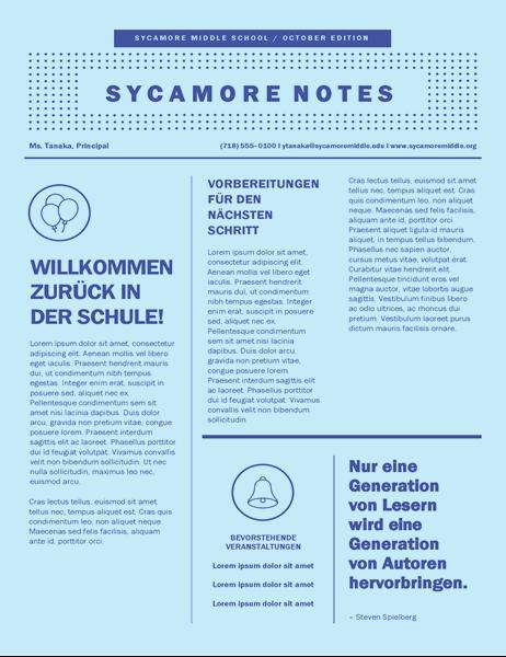 Schulbeginn-Newsletter