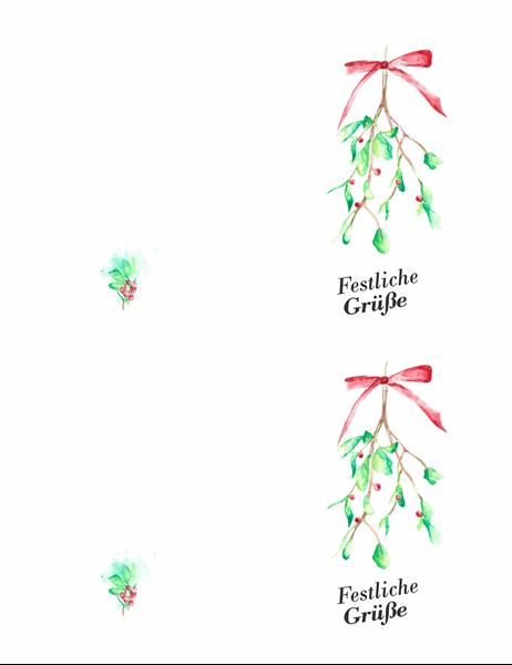 """Weihnachtskarte """"Mistelzweig"""""""