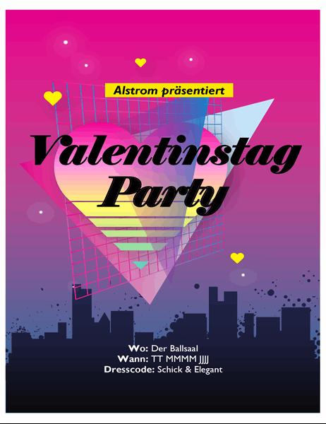 Handzettel für den Valentinstag aus den 80er Jahren