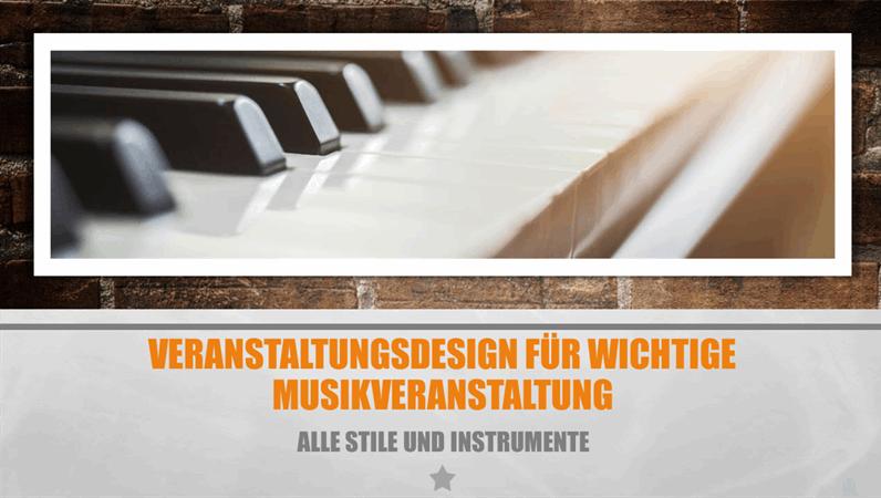 Veranstaltungsdesign für wichtige Musikveranstaltung