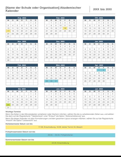 Akademischer Jahreskalender