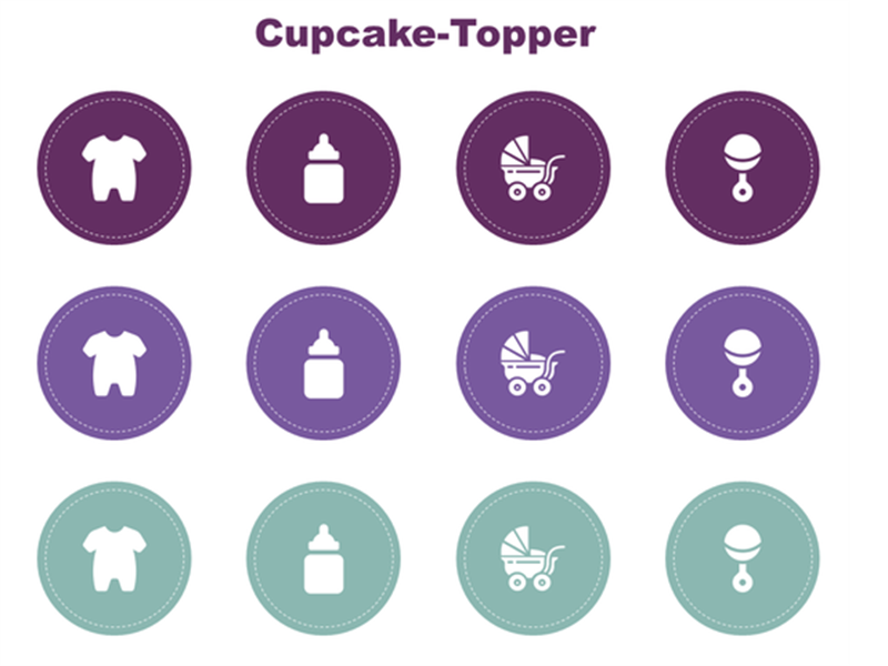 Babyparty-Cupcake-Toppers